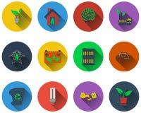 Set of ecological icons Stock Photo