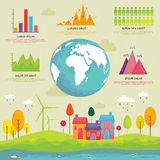 Set of ecological infographic elements. Royalty Free Stock Image