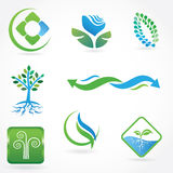 Set of  ecological symbols Royalty Free Stock Image