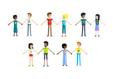 Set of Ecologist Human Characters Illustrations. Stock Photo