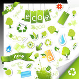 Set of ecology,bio and health symbols. Royalty Free Stock Images