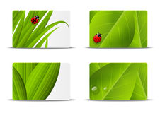 Set of ecology business cards Royalty Free Stock Photo