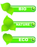 Set of  ecology buttons Royalty Free Stock Image