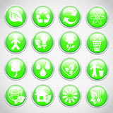 Set of ecology buttons Royalty Free Stock Photos
