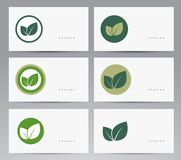 Set of ecology cards. Royalty Free Stock Photos
