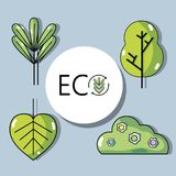 Set ecology conservation and environment care concept. Vector illustration Royalty Free Stock Image