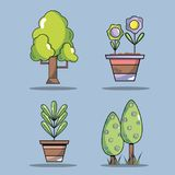 Set ecology conservation and environment care concept. Vector illustration Royalty Free Stock Photo