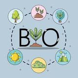 Set ecology conservation and environment care concept. Vector illustration Stock Photo