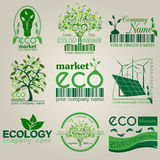 Set of ecology, environment and recycling logos. Vector logo tem Stock Image