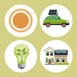 Set ecology green energy Royalty Free Stock Photo