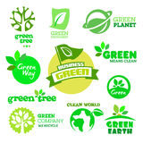 Set of Ecology - Green icons Stock Photo