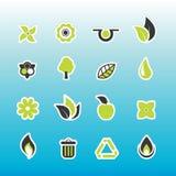 Set of ecology icons. Stock Photography