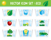 Set ecology icons Stock Image