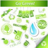 Set of ecology icons. Royalty Free Stock Photo