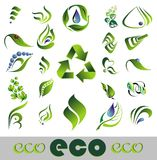 Set of ecology icons. Royalty Free Stock Image
