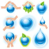Set of ecology icons Stock Photo