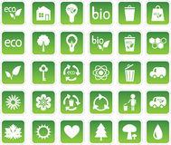 Set of ecology icons Stock Photography