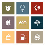 Set of ecology icons Royalty Free Stock Photos
