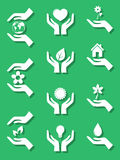 Set of ecology icons Stock Images