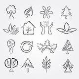 Set of 16 ecology icons Royalty Free Stock Photo