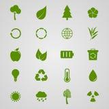 Set of ecology icons,  illustration Stock Image