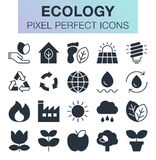 Set of ecology icons. Royalty Free Stock Photography