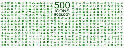 Set of 500 ecology icons - vector