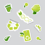 Set of ecology icons. Vector Stock Photo