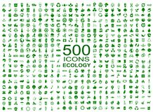 Set of 500 ecology icons - vector stock illustration