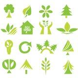 Set of 16 ecology icons Stock Photos