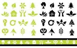 Set of 32 ecology icons Royalty Free Stock Photo