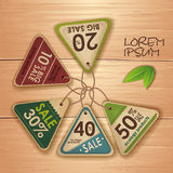 Set of ecology labels Royalty Free Stock Images