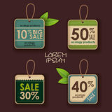 Set of ecology labels Royalty Free Stock Photography