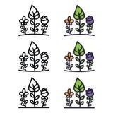 Set of ecology logo elements. stock illustration