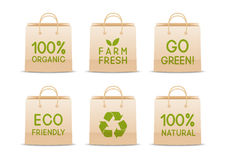Set of ecology paper bags Royalty Free Stock Photos