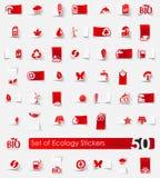 Set of ecology stickers Stock Image