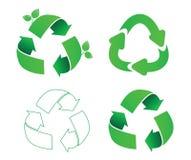 Set of ecology symbols Royalty Free Stock Images