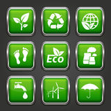 Set of ecology web buttons Royalty Free Stock Photos