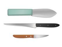 Set of economic knifes for kitchen Royalty Free Stock Image