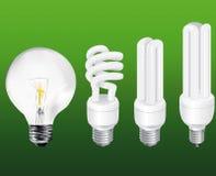 Set of economical lamps Stock Photo