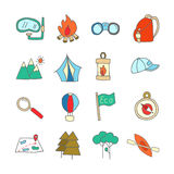 Set of ecotourism icons elements  Stock Image