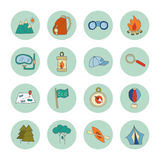 Set of ecotourism icons elements  Royalty Free Stock Photography