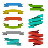 Set of edged ribbons Stock Photography