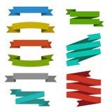 Set of edged ribbons royalty free illustration