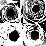 Set of edgy geometric textures. Random chaotic shapes. Abstract Royalty Free Stock Photo