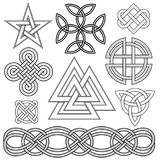 Celtic knot design elements Stock Photography