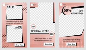 Set of Vertical Promo Landing Pages for Business stock illustration