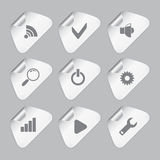 Set of Editor tools icons Royalty Free Stock Images