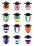 Set education. On a white background Stock Photo