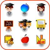 Set of education Royalty Free Stock Photos